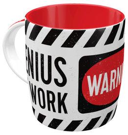 Nostalgic Art mug - genius at work (4)