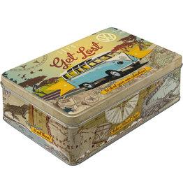 Nostalgic Art tin box - flat - let's get lost VW