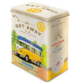 Nostalgic Art blikken doos M - get away VW