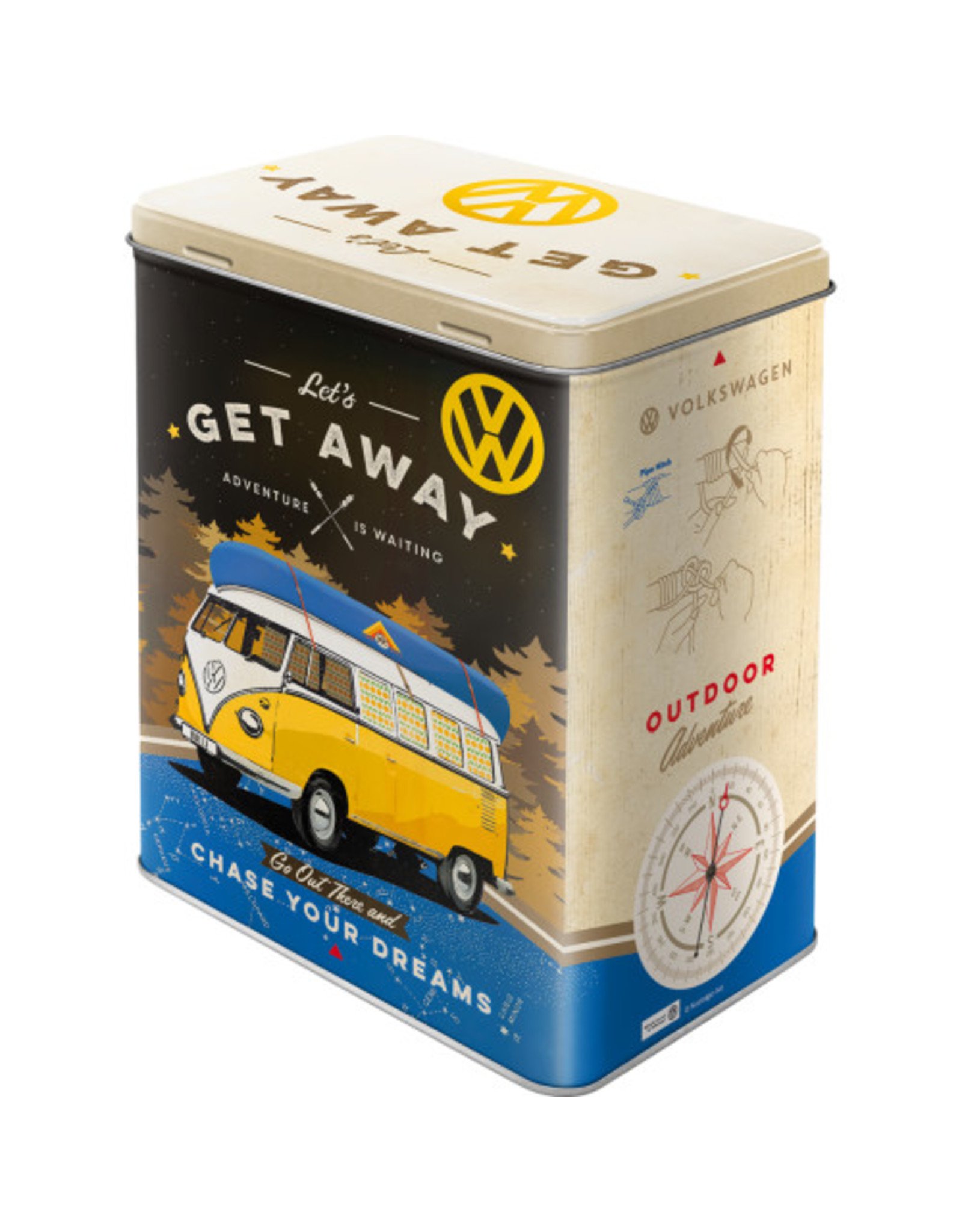 Nostalgic Art tin box - M - get away VW