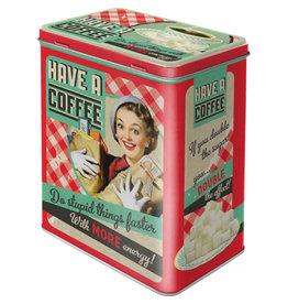 Nostalgic Art blikken bewaardoos - M - have a coffee