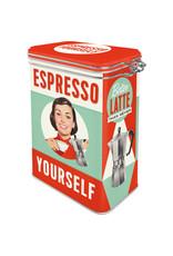 clip top box - espresso yourself