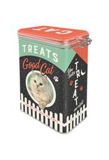clip top box - treats good cat
