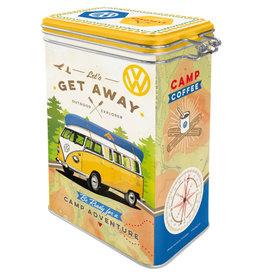 Nostalgic Art blikken doos met clip - VW let's get away