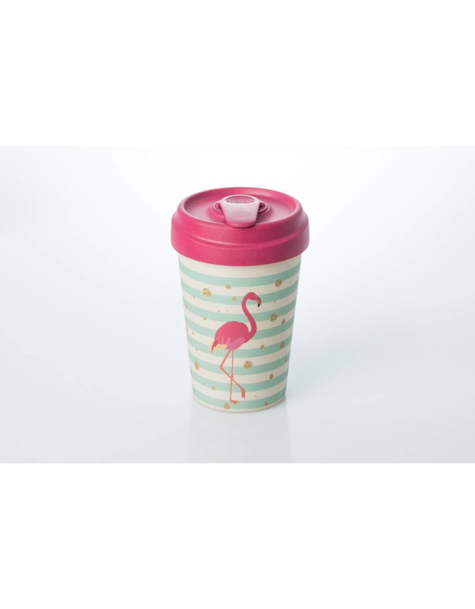 Chic Mic travel mug - flamingo