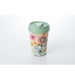 Chic Mic travel mug - flower power
