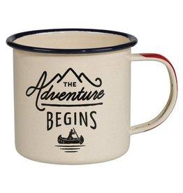 Cortina enamel mug - the adventure begins