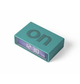 Lexon alarm clock - flip (blue green)