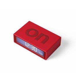 Lexon wekker - flip (rood)