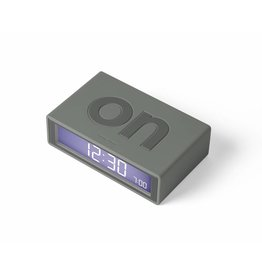 Lexon alarm clock - flip (warm grey)