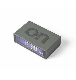 Lexon wekker - flip (warm grijs)