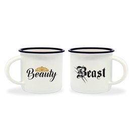 Legami espresso mugs - beauty & the beast
