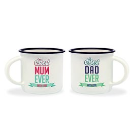 Legami espresso mugs - best mum / best dad