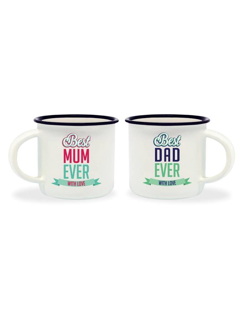 Legami espresso mugs - best mum / best dad (6)