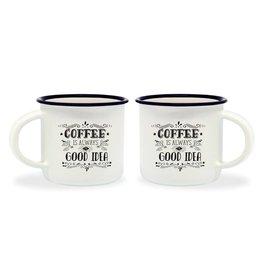 Legami espresso mugs - coffee is always a good idea