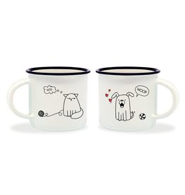 Legami espresso mugs - dog & cat (6)