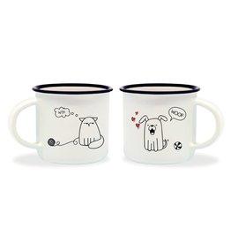 Legami espresso mugs - dog & cat