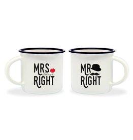 Legami espresso mokken - Mrs right / Mr right