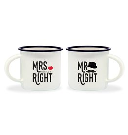 Legami espresso mugs - Mrs right / Mr right
