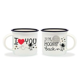 Legami espresso mugs - to the moon and back