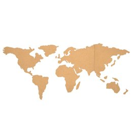 Le Studio bulletin board - world map