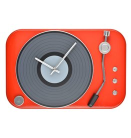 Le Studio wall clock - record player (red)