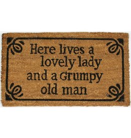 La Finesse doormat - here lives a lovely lady and a grumpy old man