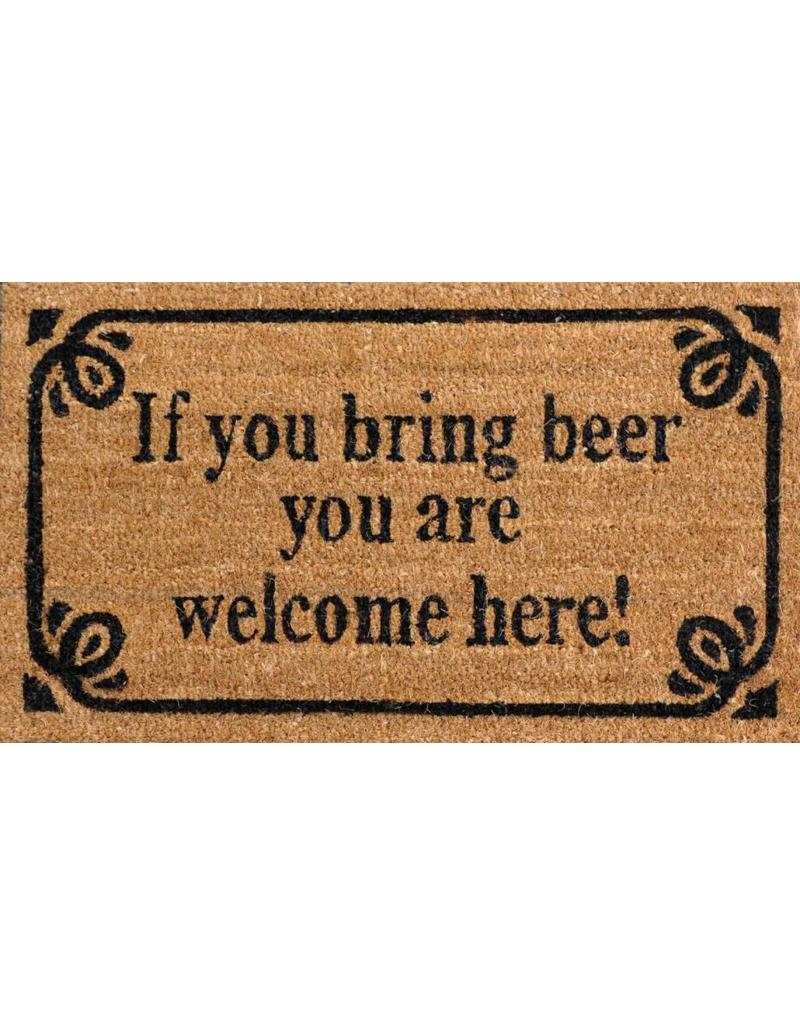 Uitzonderlijk deurmat - if you bring beer you are welcome here - Jelly Jazz NM35