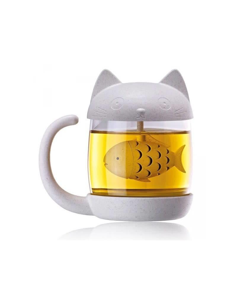 Winkee mug/tea infuser - cat/fish