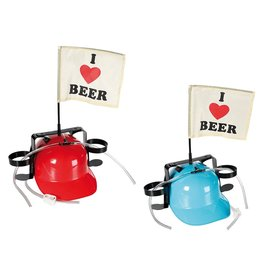 Out Of The Blue beer helmet - I love beer