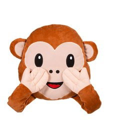Out Of The Blue emoji pillow - monkey