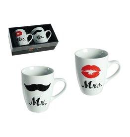 Out Of The Blue mug set - Mr & Mrs