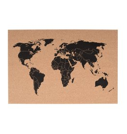 Present Time bulletin board - world map