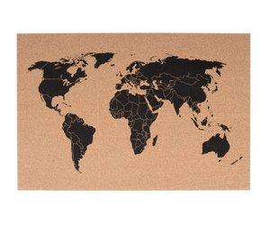 Present Time bulletin board - world map