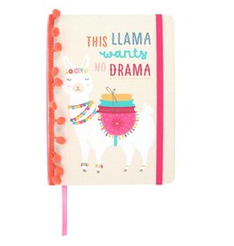 Jones Home & Gift notebook A5 - this llama wants no drama