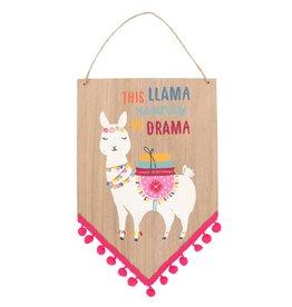 Jones Home & Gift sign - this llama wants no drama