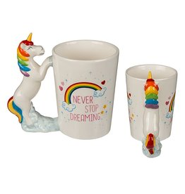 Out Of The Blue mug - unicorn never stop dreaming