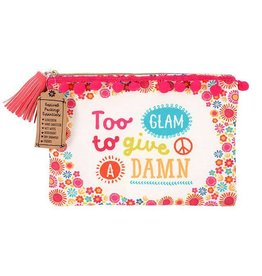 Jones Home & Gift pouch - too glam to give a damn