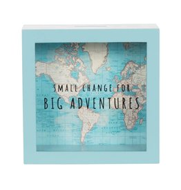 Sass & Belle moneybox - vintage map fund