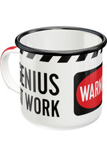 Nostalgic Art enamel mug - genius at work