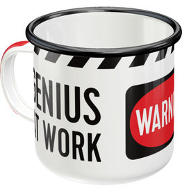 enamel mug - genius at work