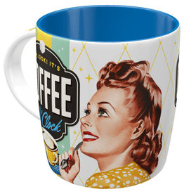 Nostalgic Art mug - coffee o'clock