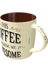 """mug with text """"this coffee is making me awesome"""""""