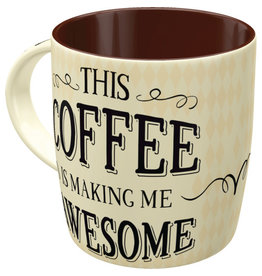 Nostalgic Art mug - this coffee makes me awesome
