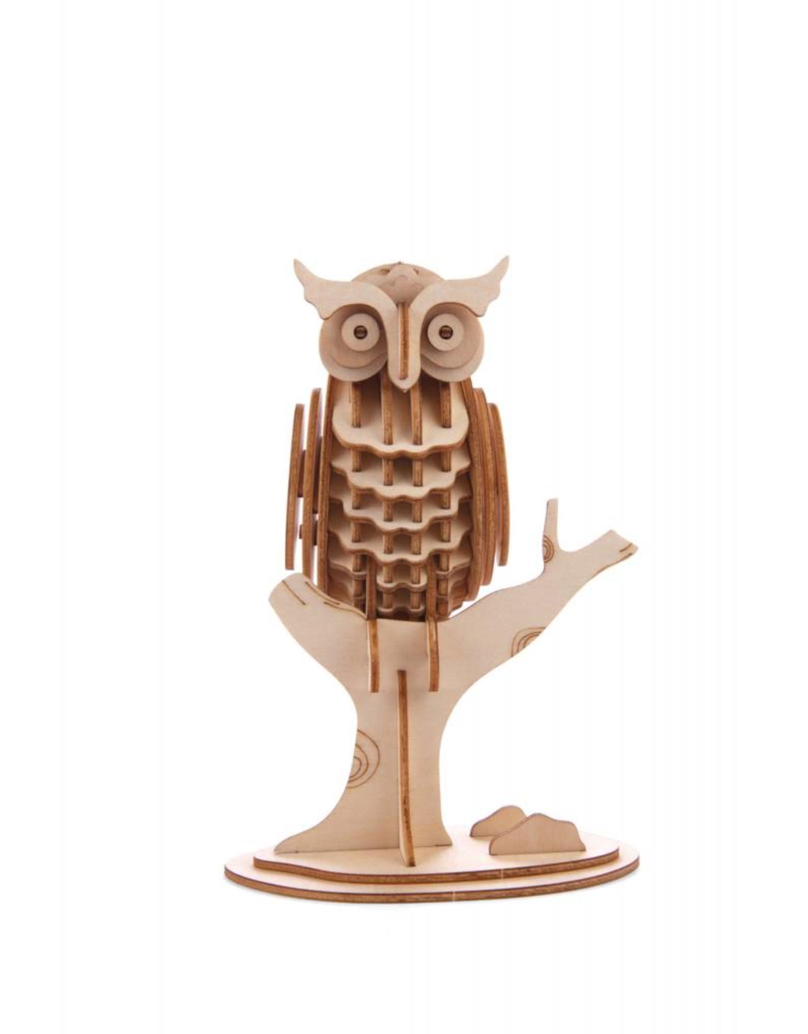 3D wooden puzzle - owl