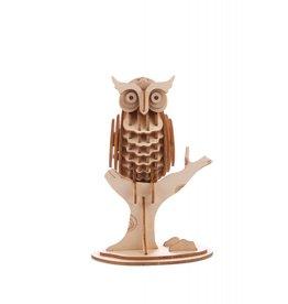 Kikkerland 3D wooden puzzle - owl (12)