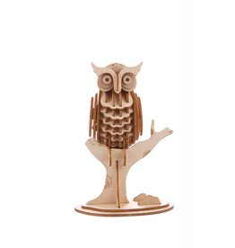 Kikkerland 3D wooden puzzle - owl