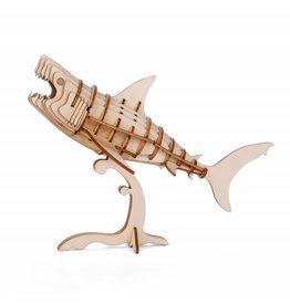 Kikkerland 3D wooden puzzle - shark (12)