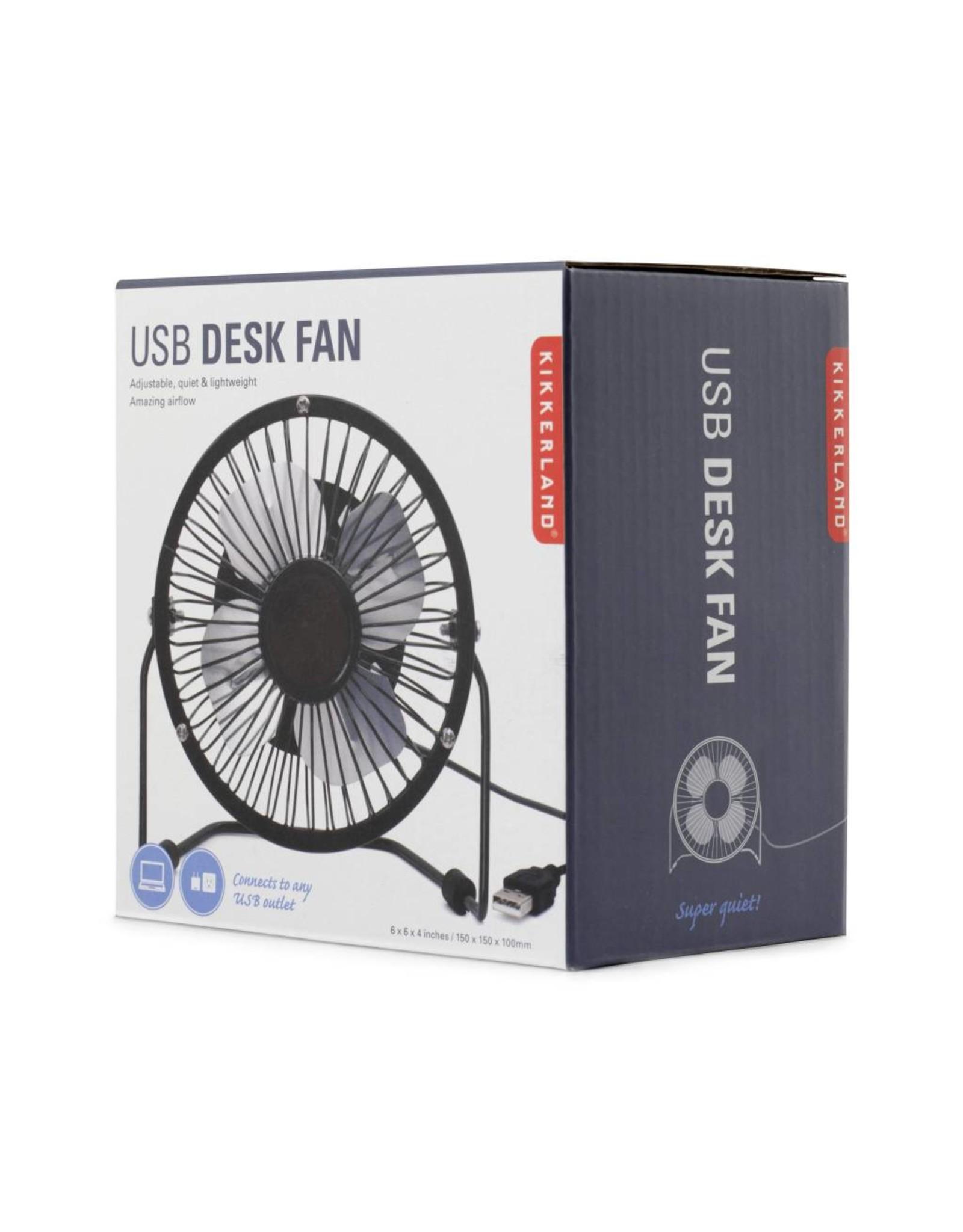 desk fan - USB (black)