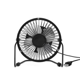 Kikkerland desk fan - USB (black)